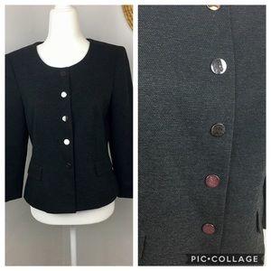 Kasper dark gray 3/4 length suit top